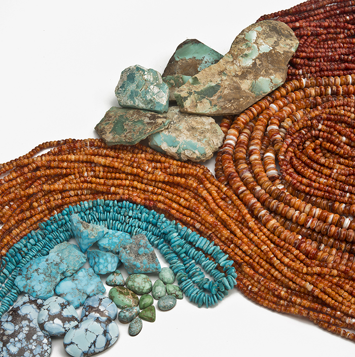 North American Turquoise, Spiney Oyster Beads, Golden Hills Turquoise